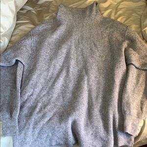 Gray Free People turtleneck sweater